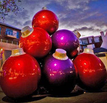 10 - Giant Christmas Balls