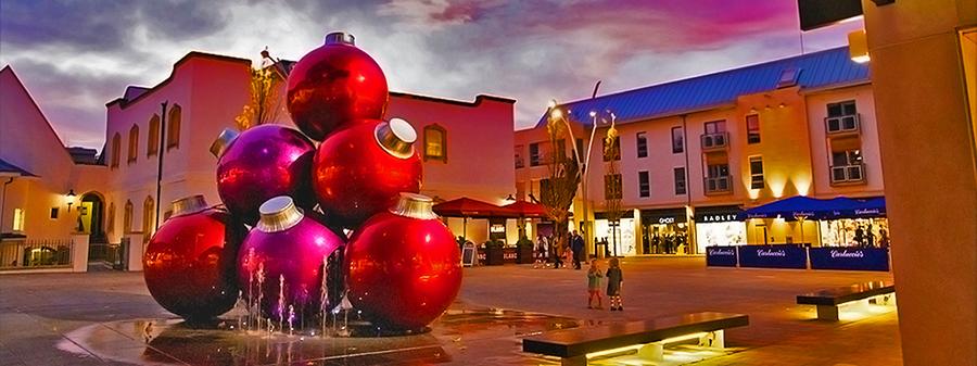 Giant Christmas Ball Stack